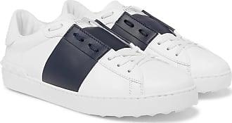 Open SneakersWhite Striped Valentino Leather Garavani K3l1TJuFc5