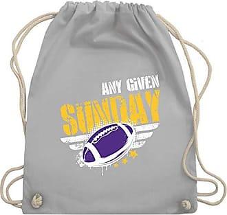 amp; American Shirtracer Given Football Bag Hellgrau Gym Turnbeutel Minnesota Unisize Any Wm110 Sunday Fffv1xqn