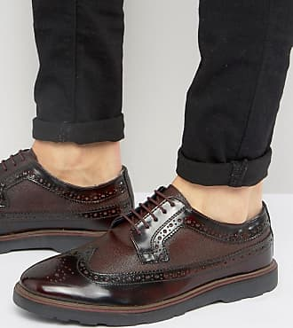 Street SohoChaussures Rouge Richelieu London Silver En Cuir Bordeaux 6Y7bgfy
