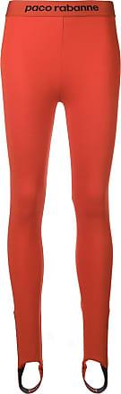 Paco Logo Rabanne Jersey Stretch Leggings Rouge xw0BwYqU