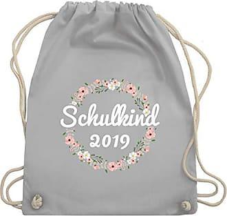Einschulung Turnbeutel Wm110 Hellgrau Shirtracer Bag Unisize Blumenkranz amp; Gym 2019 Schulkind SwwdAq