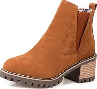 Absatz Geschlossen Boots Eu Komfort Mit Aisun Damen Braun 42 Stiefelette Chelsea Runde DHWIE92