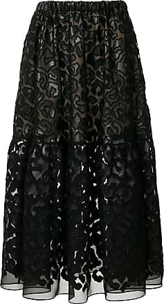 Noir Skirt Sheer Textured Stella Mccartney fRPqBn6wx