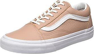 Baskets Vans true Old tumble White 5 Femme Eu Leather mahogany 34 Rose Skool qpC4pxE