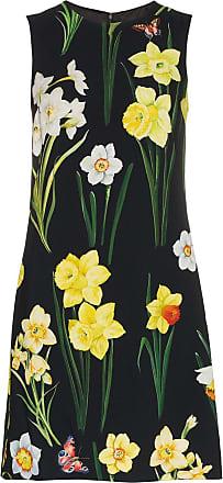 amp; Noir Dolce Robe Fleurs Gabbana À AqRTw