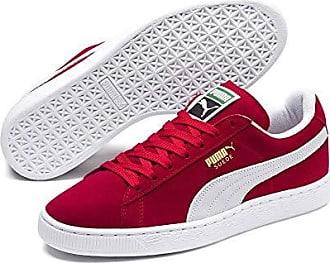 Für Lifestyle Turnschuhe Sneakers Red Herren Suede Classic 5 leder Einen Regal Sportlichen 11 Aus Klassiker Team Puma white Velours qwzx7x
