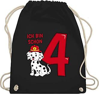 Hund Gym Unisize Bin Feuerwehr Wm110 4 Geburtstag Shirtracer Ich amp; Schwarz Kind Schon Bag Turnbeutel xSp0S8On