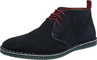 Boots Aus schnürsenkeln Wildleder Desert 42 Browns Herren Kontrast Blau Joe Mit tqwBIg8