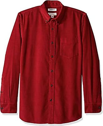 Rojo fit Goodthreads Hombre x Camisa small Corduroy Para Standard Red Long sleeve red 6qxr8q5