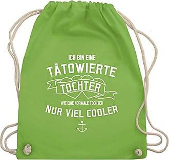Ich Shirtracer Hellgrün Bag Turnbeutel Bin amp; Gym Wm110 Frauen Eine Unisize Tochter Typisch Tätowierte rCqCwB