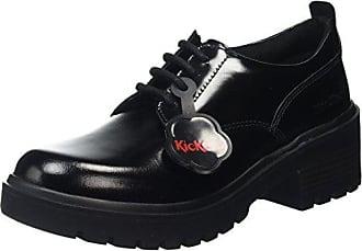 Negro Eu Kickers Lace Botas 36 Kickmando Mujer YAWW17p