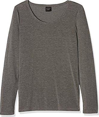 38 O Femme Melange Manches Sfpaja neck Ls medium T shirt Selected Deep Grey Gris Noos Longues Top 1waBIA