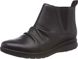 Negro 37 5 Eu Adorn Clarks Leather black Mujer Un Slouch Para Mid Botas wqv0C