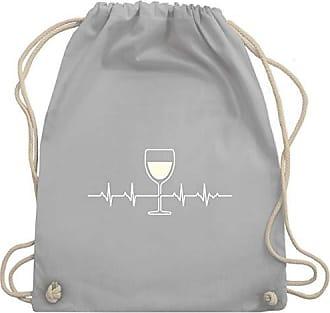 Turnbeutelamp; Bag Hellgrau Weißwein Gym Unisize Wm110 SymboleHerzschlag Shirtracer YIb76mgyfv