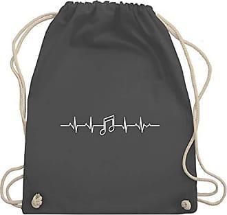 Dunkelgrau Note amp; Unisize Gym Symbole Musik Shirtracer Herzschlag Turnbeutel Wm110 Bag 8AxXqztIw
