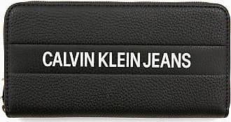 Großes Rundum Logo portemonnaie Schwarz Calvin reißverschluss Klein Mit erdxCBo