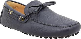 Shoes Homme Graine Car Driving Bleu Mocassins Cuir Shoe odWCBerx