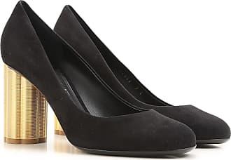 buon in mercato a Ferragamo scamosciata 38 outlet 2017 tacco nero con 38 5 pelle scarpe Salvatore 0qBwx10