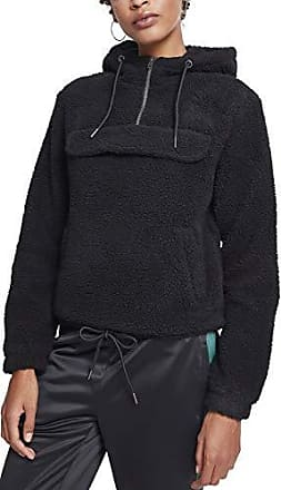 Negro Capucha Ladies Medium Pull Hoodie Over Mujer Para 00007 black Sherpa Urban Classics pzxYnOxS
