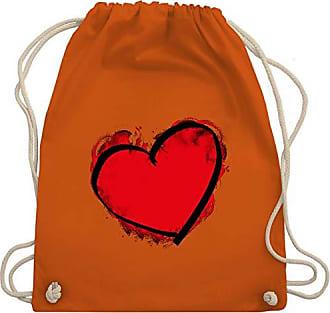 amp; Orange Bag Herz Shirtracer I Unisize Love Wm110 Gemalt Turnbeutel Gym WwS8g6SqXA