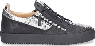 Kalbsleder Giuseppe Schwarz Frankie Zanotti Low Sneaker Logo qIwUx8O