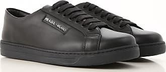 Sneaker SoldesNoirCuir201744 En Cher Pas Homme Prada L5Rj4A