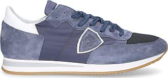 Low Textil Logo Veloursleder Blau Patch Tropez Model Sneaker Philippe wTSn4EH