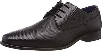 311697033900 1000 Hombre Cordones Para schwarz Derby Zapatos 47 Negro De Bugatti Eu AOnqxdZzA