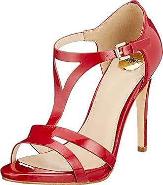 36 Rouge 00 Buffalo Femme Eu Ouvert Mistletoe Bout red Leather Patent Sandales nwwva0xBTq