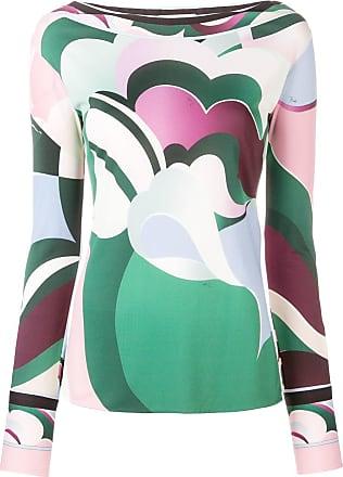 Colour block Blouse Fitted Vert Emilio Pucci UCq4H
