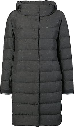 Nero Padded Herno Belted Hood Coat Fur Di Colore xqw4fcYgvZ