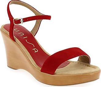 Rita Et Sandales Rouge Nu Unisa Femme pieds Pour w0YdqwFxn5