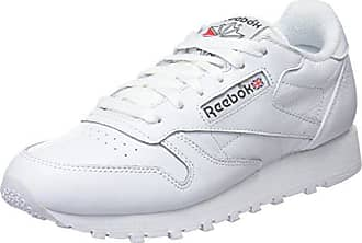 white Sneakers 38 Leather Classic Eu Blanc Femme Archive carbon red 5 Reebok Basses wt4pq
