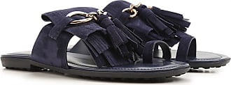 Outlet Tod's 36 Sale On Blue In Navy 36 Suede 5 Sandals Women 2017 For wUnrqfYU