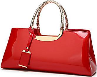 Leder Brauttasche Und Damen Lacktasche Große Mode Rote Europäische Chengxiaoxuan Hochzeitstasche red onesize Hell Abendtasche Amerikanische Handtaschen Umhängetasche vAHXq
