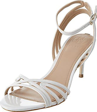 39 White Guess Blanc Femme Cheville Sandal Eu Escarpins Footwear Bride Dress wqPzw8