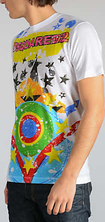 Shot Size shirt Dsquared2 Cotton Printed T M 6gyb7vYf