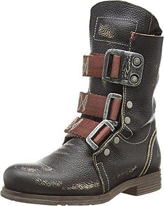 London black 000 Damen Fly Boots Eu Stif Schwarz 38 Biker d0qaq