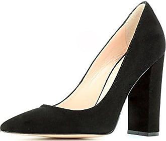 Damen Rauleder Schwarz Evita Alina Pumps Shoes 37 LqUpSzVGM