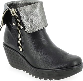 Boots Pour Noir Promo Yex Fly London Femme BFqg5nwE