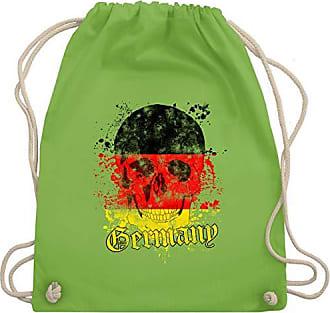 Vintage Gym amp; Wm110 Unisize 2020 Hellgrün Shirtracer Fußball Turnbeutel Schädel Bag Germany europameisterschaft wy4yX6qP