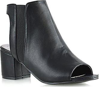 Peep Essex Rücken Offener Damen 37 Schuhe Ferse Eu Kunstleder Niedrige Stiefeletten Schwarz Glam Frau Toe ZFwqZAxgf