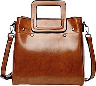 Bag Ledertasche Leder brown Tasche Damen onesize Gkkxue Messenger Handtasche Pitotte Öl Wax 0B6q6A