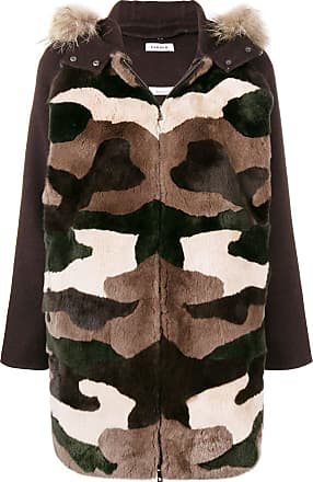 Camouflage Hooded P Coat r a s h o Parka Marron qqYXw