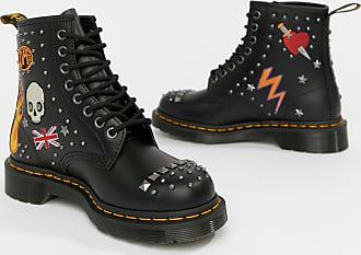 1460 Ankle boots Aus Schwarz Schwarzem DrMartens Leder RockabillyFlache nPw8k0O