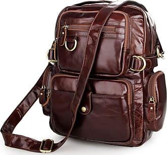 Zaino multiuso vintage Bags chiaro marrone Delton w5gSTE1BWq