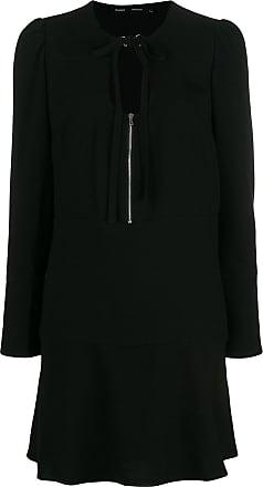 U Neck Noir Proenza Schouler Textured Dress Crepe wagt1