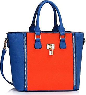 Stil Schnell Handtasche Mode Damen Cws0031ablau Leahward Qualität Vorhängeschloss Verkaufend Herrlich Kunstleder Tragetasche orange 8n0wyvNOm