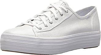 Silver Blanco Mujer Tpl Kick Linen Eu Keds white 40 10 Zapatillas Metallic Para 4Iwq0Z8