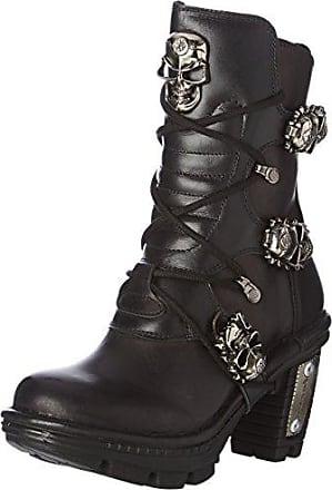 M New amp; S1 black Damen 38 Stiefeletten Eu Rock Stiefel Neotr026 Schwarz E6w6qrO